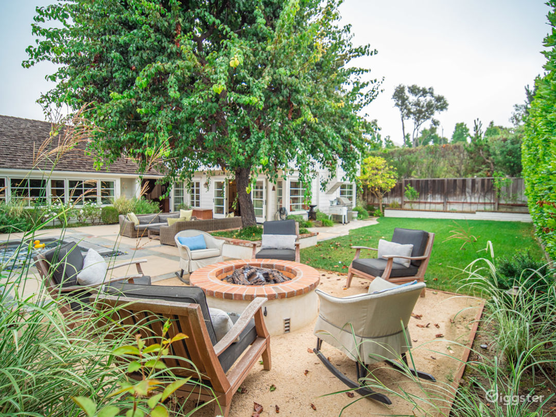 Fire Pit and Lawn