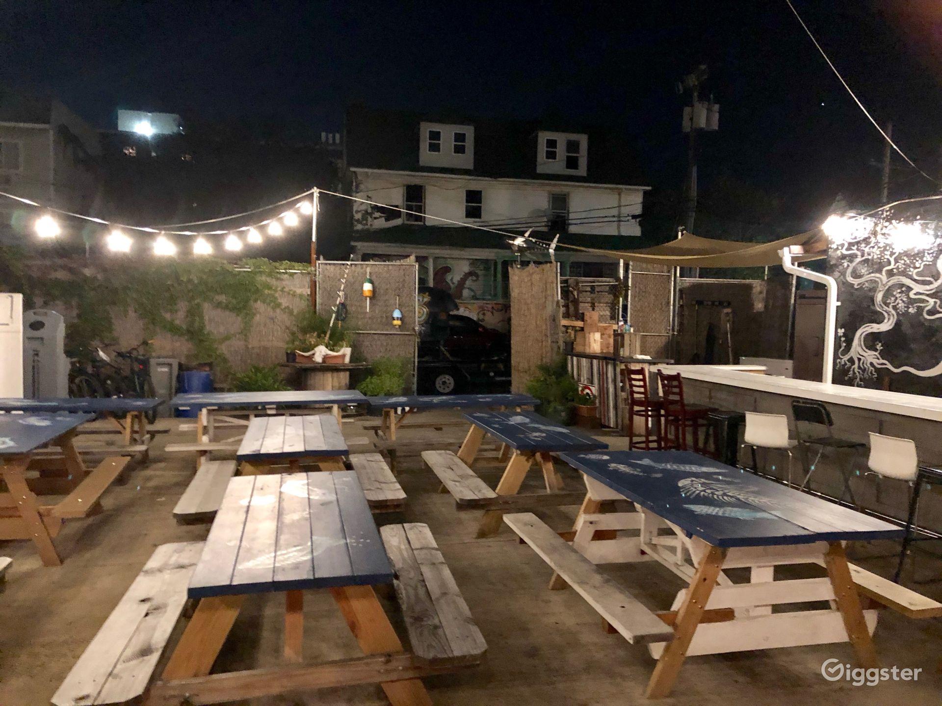 Outdoor Patio and Lounge in Rockaway Beach New York Rental