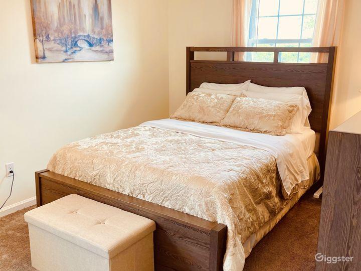 Gold Queen bedroom