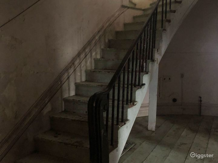 Large spiral staircase