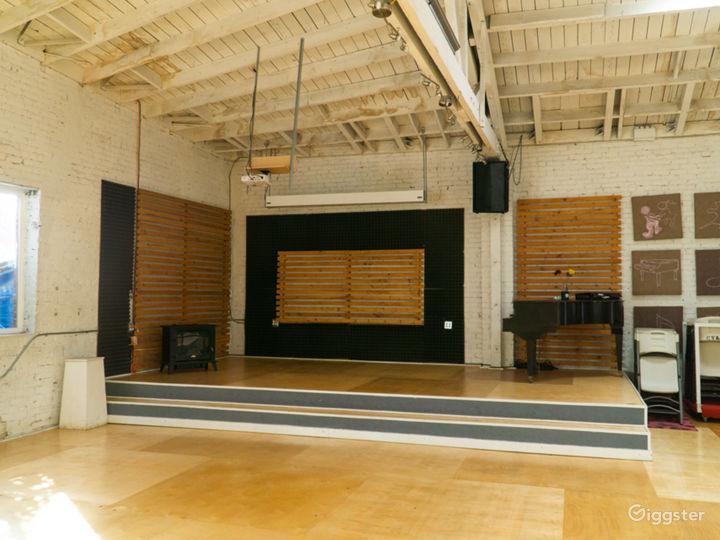 Warehouse Dance Studio w/ Brick Walls, Wood Floors Photo 5