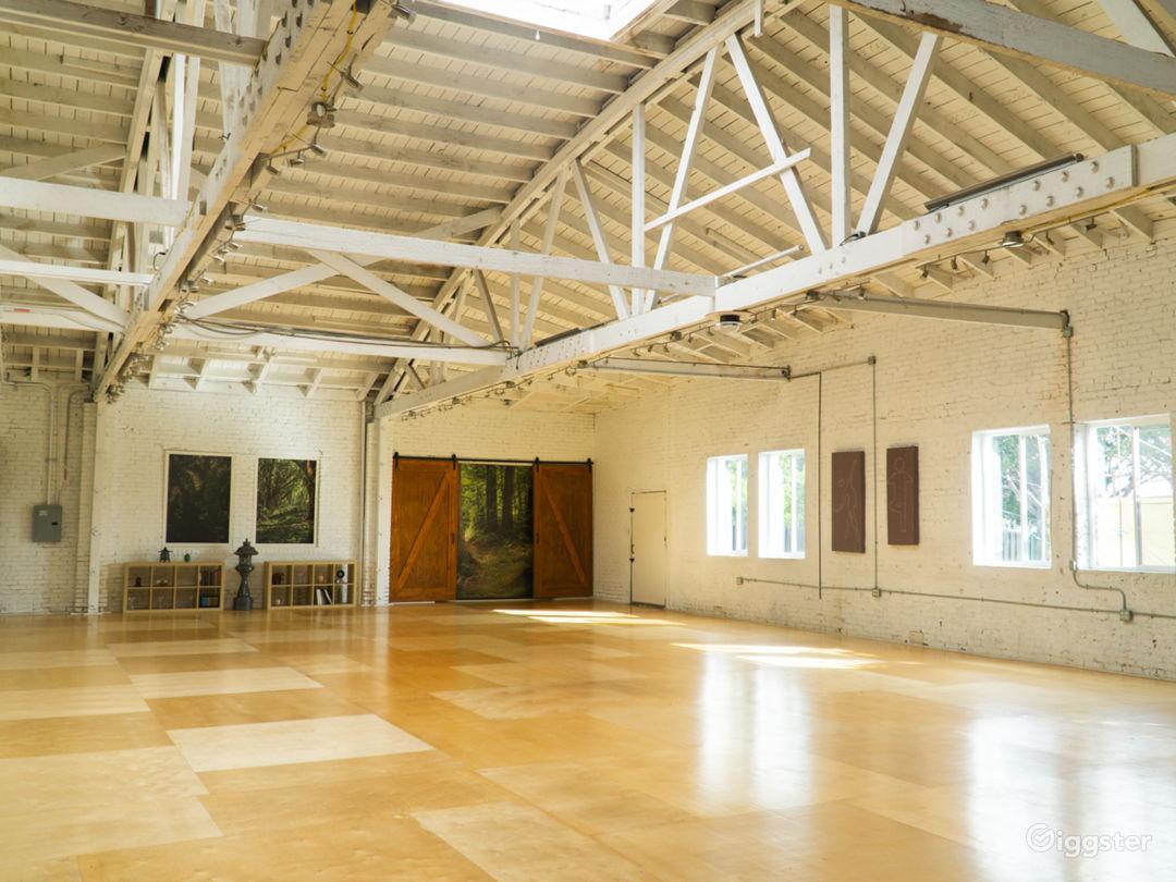 Warehouse Dance Studio w/ Brick Walls, Wood Floors Photo 1
