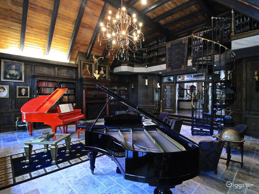 Library/Piano Room