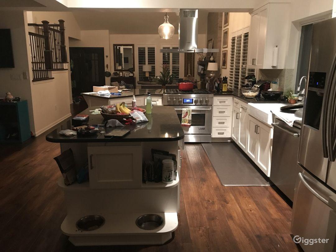 Kitchen view to door