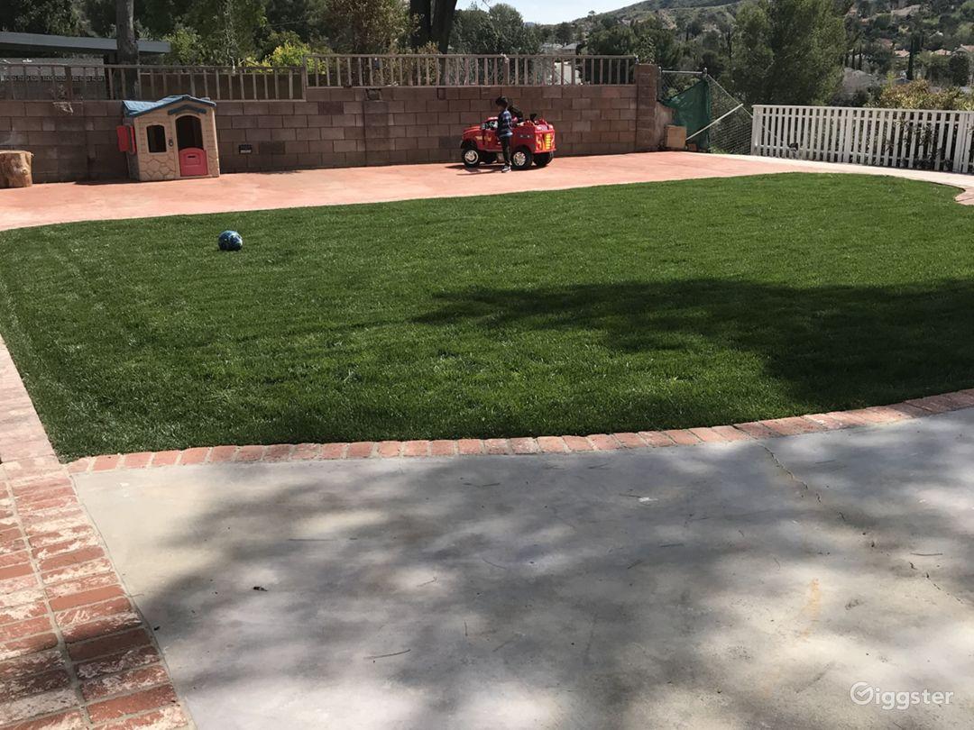 Left side of the backyard