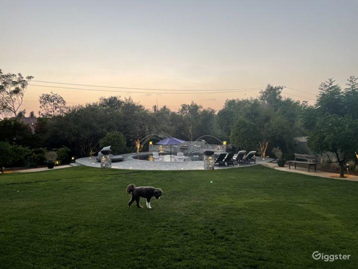 Luxurious Round Craftsman Pool and Huge Backyard Photo 4