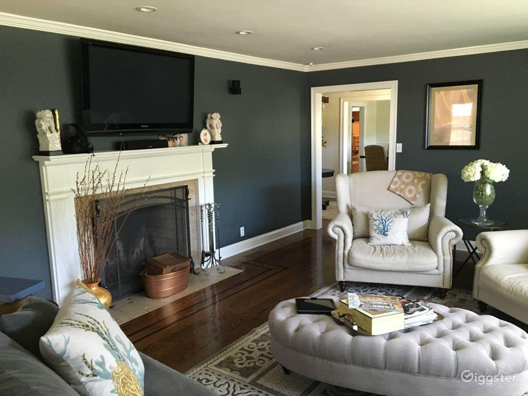 Warm, rich living room