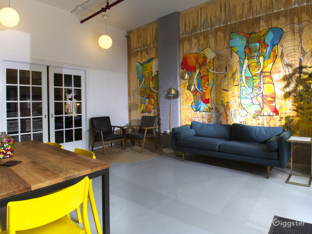 Bright & Colorful Client Lounge