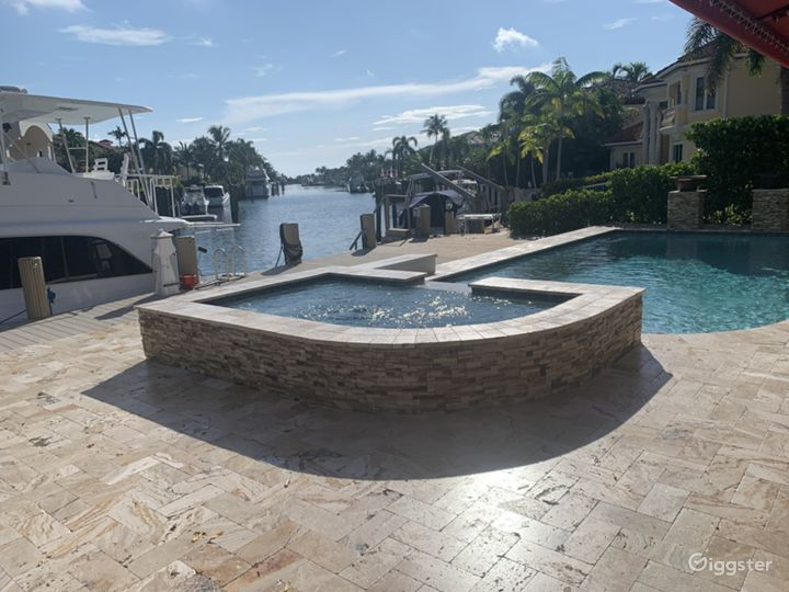 Pristine view on deep water canal in South Florida Photo 5