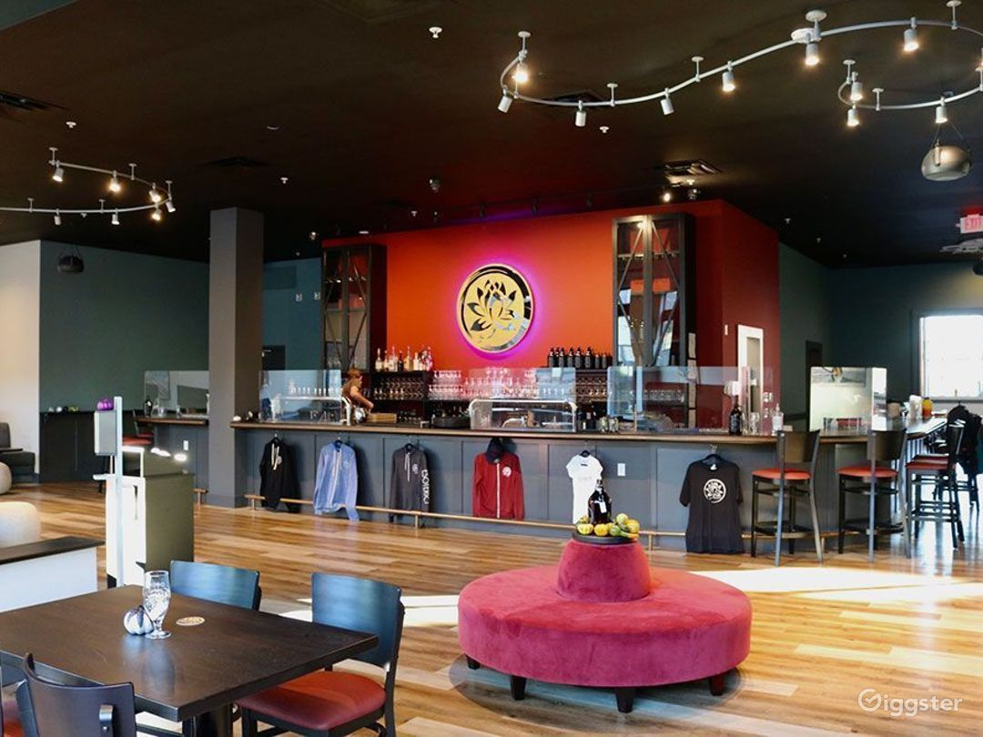 Upscale Brewery Lounge with Art Deco-Asian Theme Photo 1