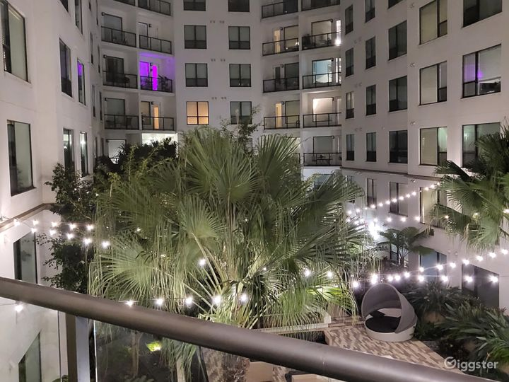 Evening View of Courtyard