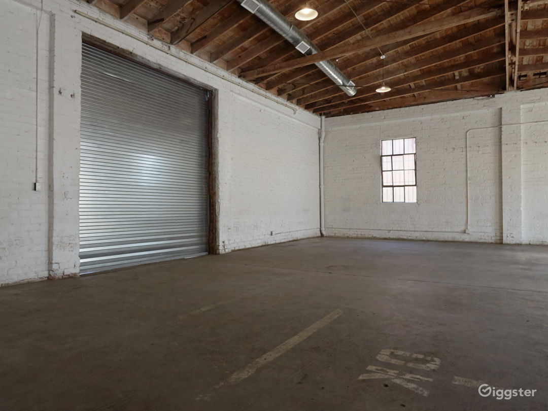 Downtown Brick Warehouse with Bowed Wooden Beams Photo 3