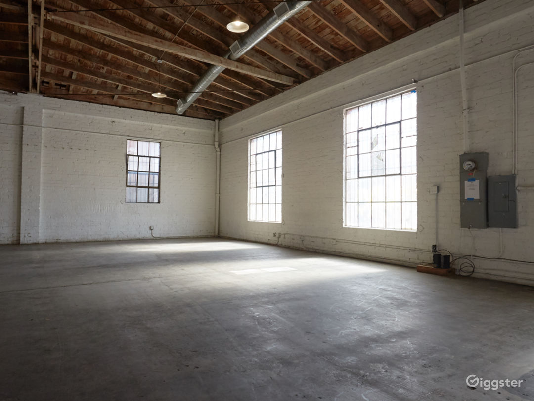 Downtown Brick Warehouse with Bowed Wooden Beams Photo 5