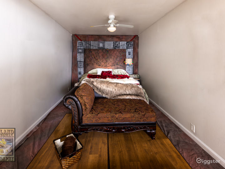 Bed room area for boudoir photo sessions