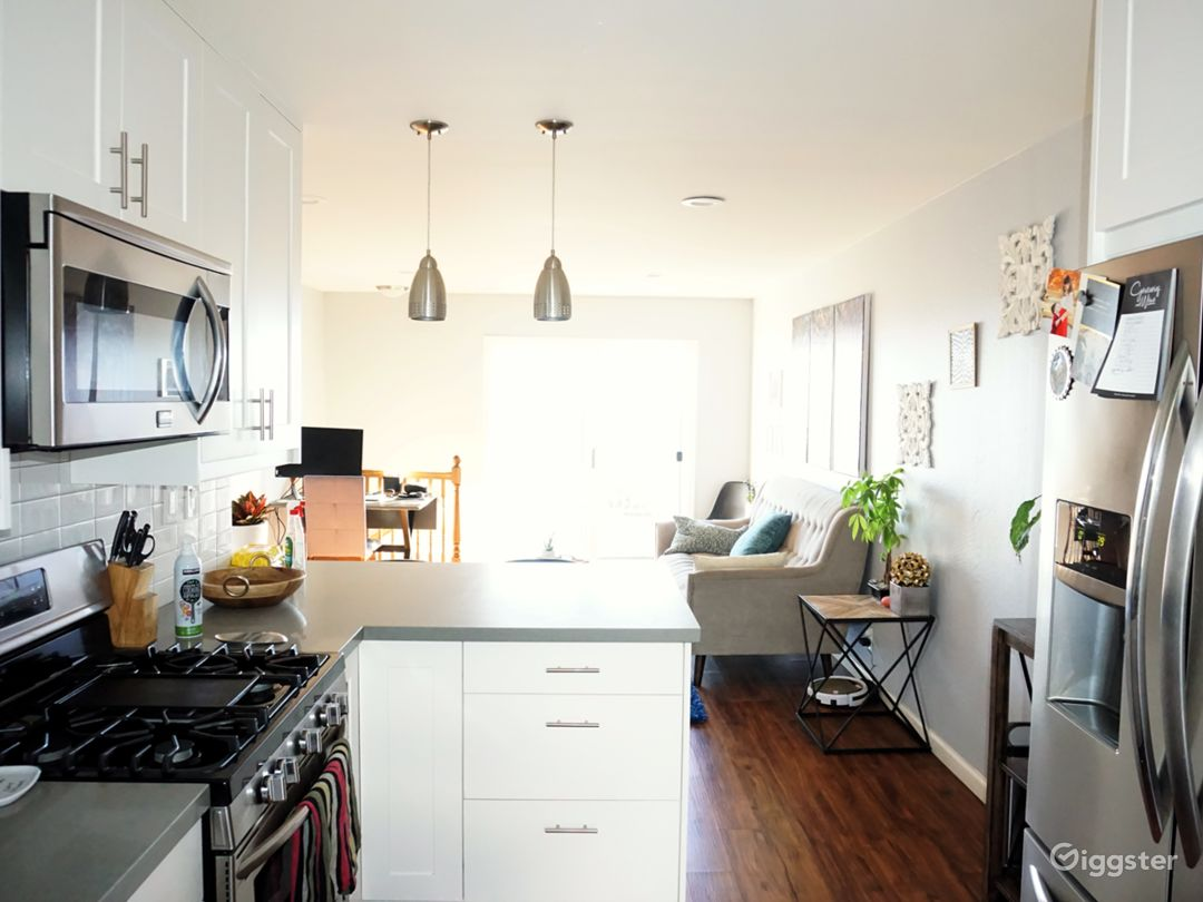 Upstars Kitchen/Living Room