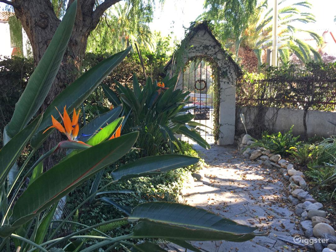 Front walkway inside yard