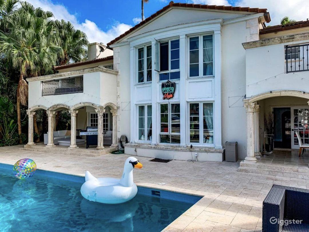 Waterfront Miami Mansion Photo 1
