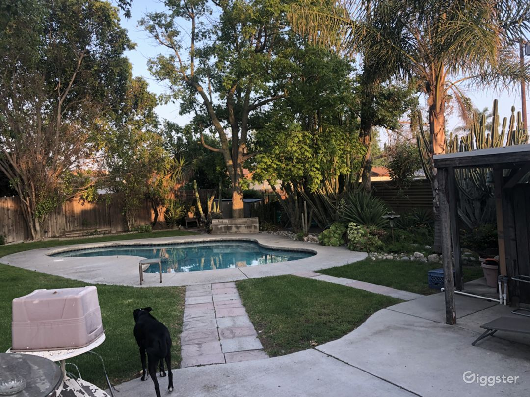 Large heated pool in private backyard.
