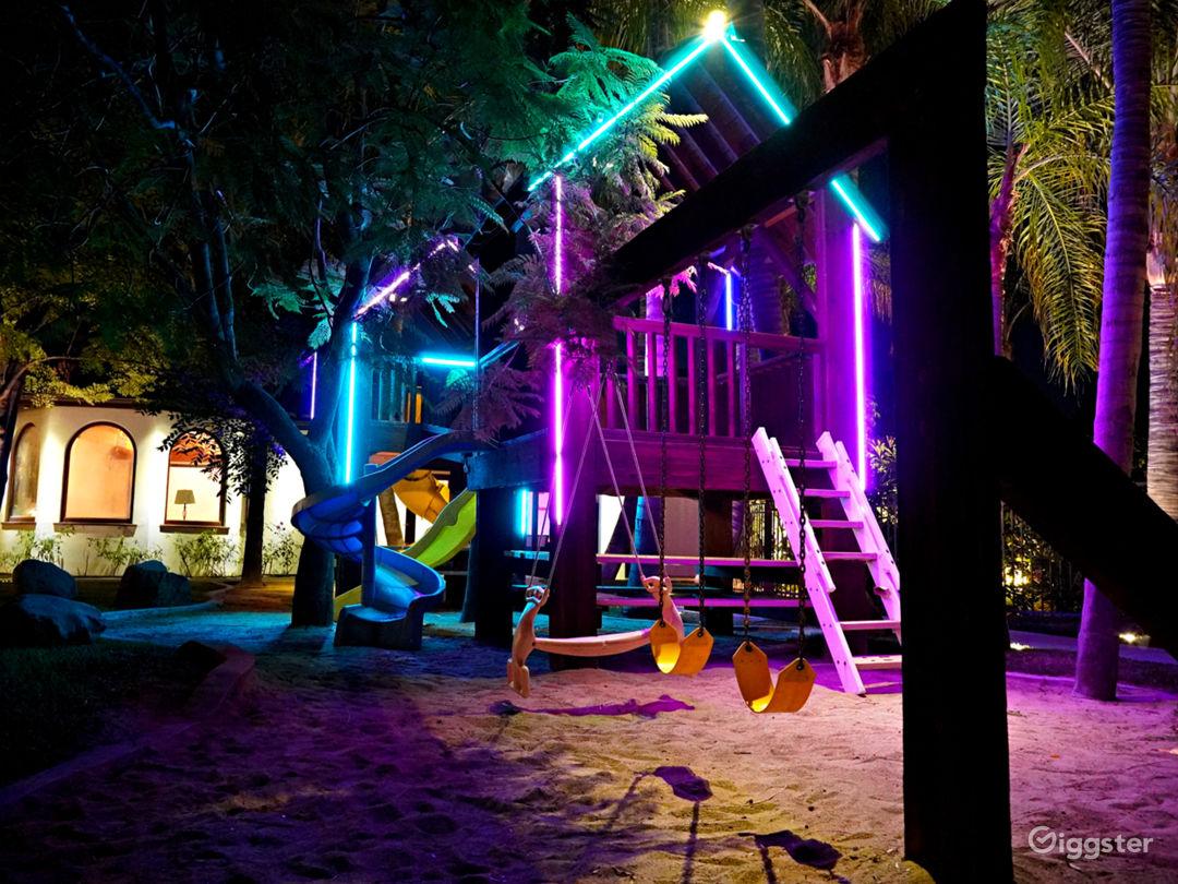 The Fortress w/ Custom Neon Treehouse Photo 1