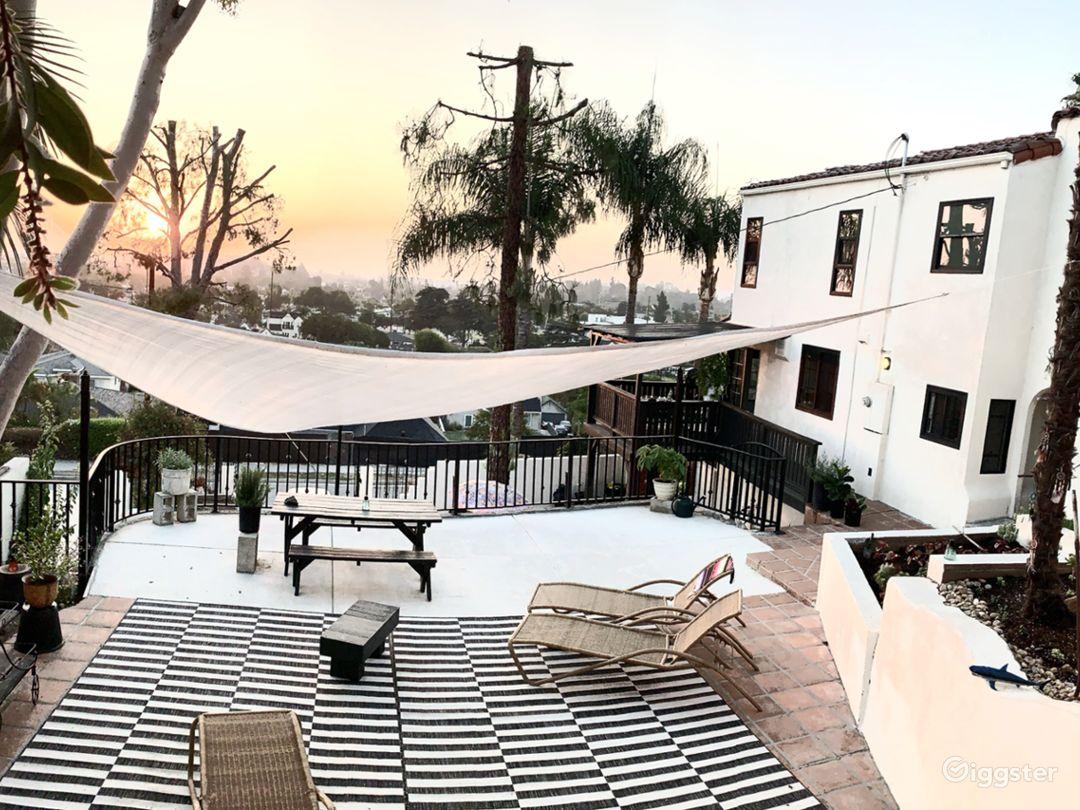 Backyard deck/courtyard