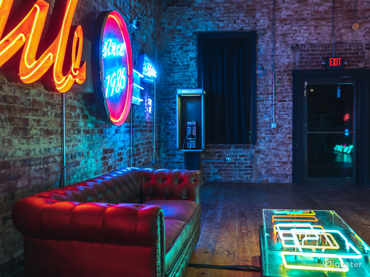 Spacious Studio Space Filled with Neon Photo 4