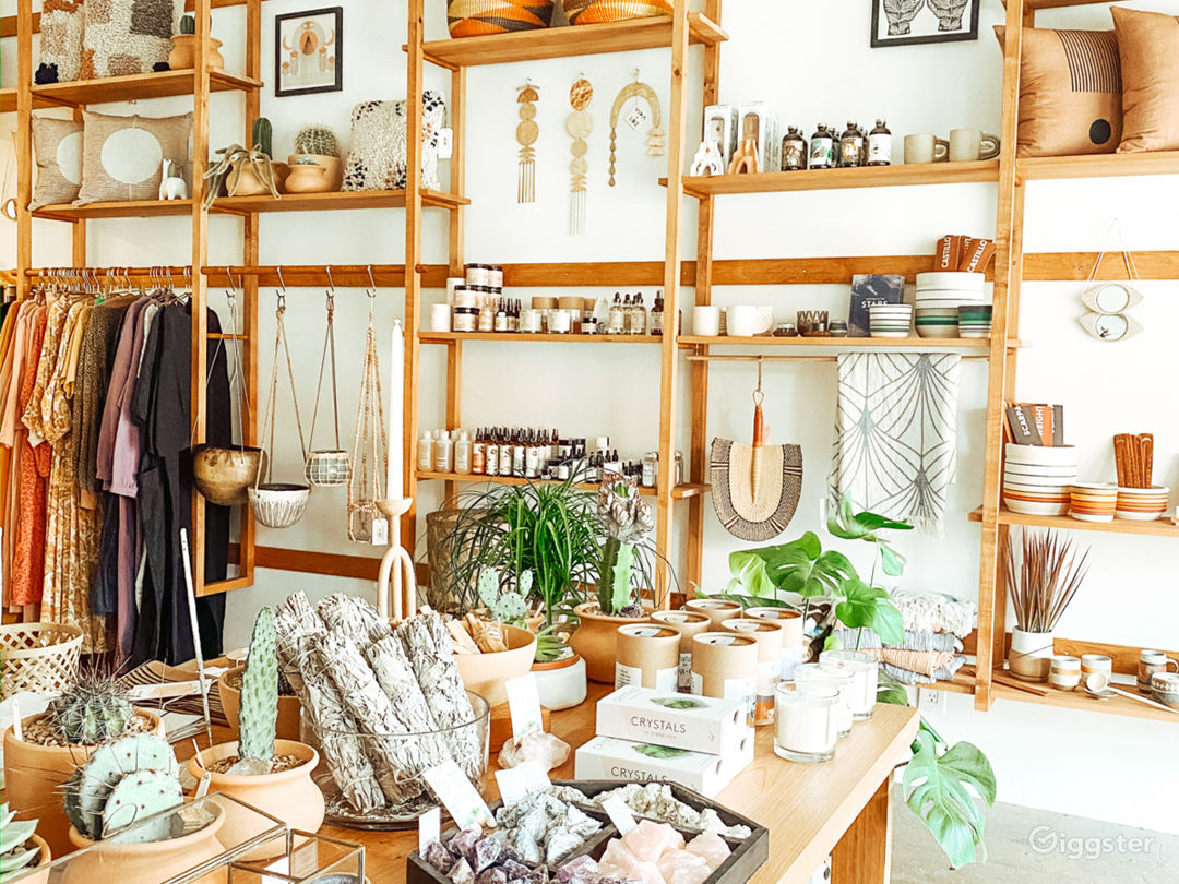 Gorgeous Boho Modern Boutique Storefront or Cafe Photo 4