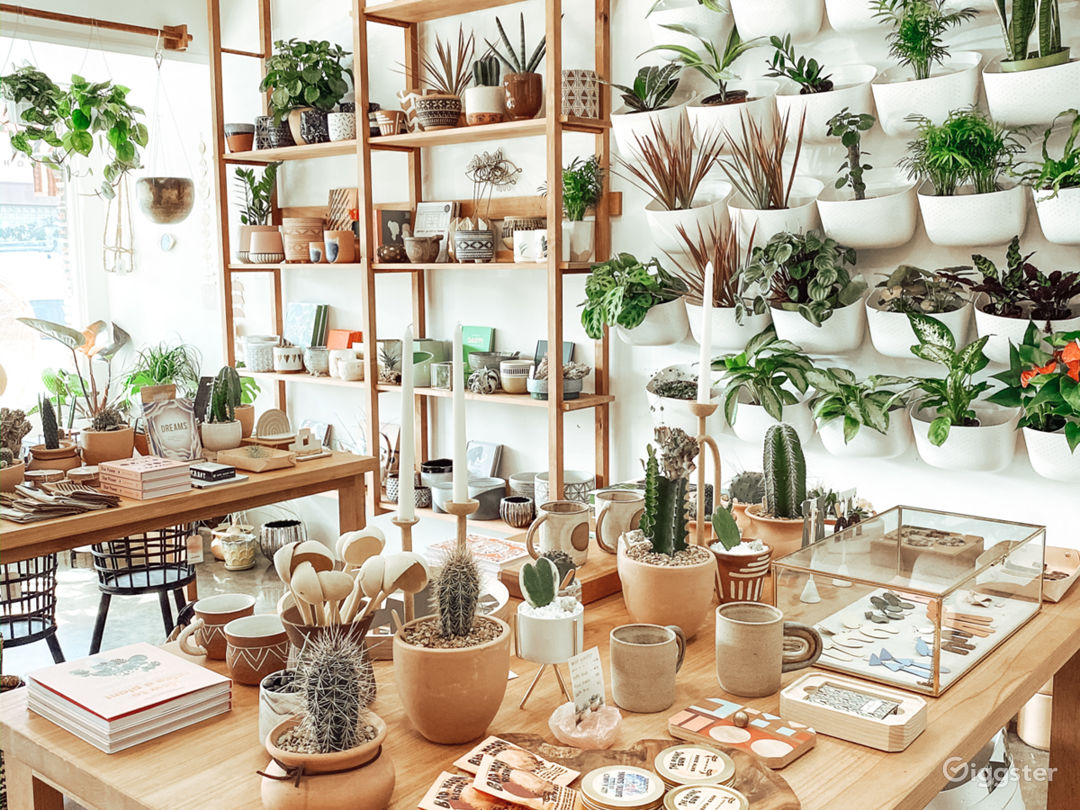 Gorgeous Boho Modern Boutique Storefront or Cafe Photo 1