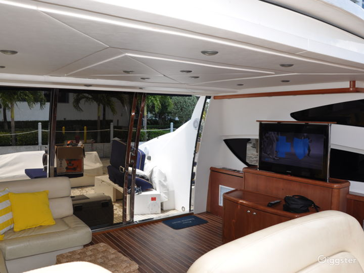 Cool and Colossal 82ft Sunseeker Party Yacht Space Events Photo 2