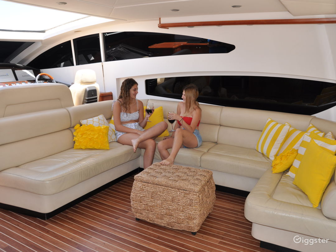 Cool and Colossal 82ft Sunseeker Party Yacht Space Events Photo 1