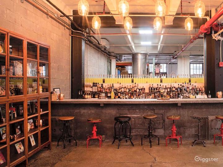 Stylish Industrial Tasting Room