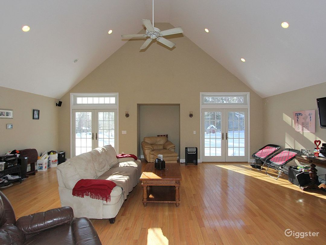 This is the spacious living room