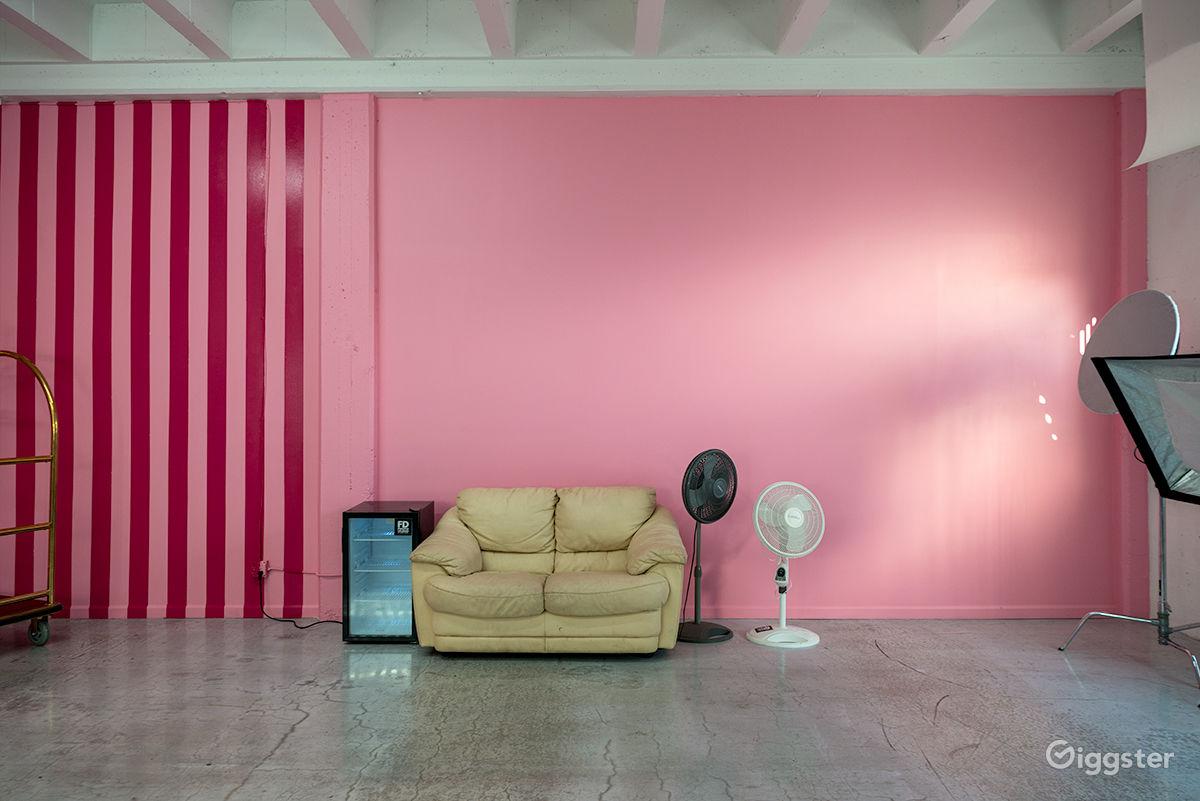 Retro Pink Photo Space Los Angeles Rental