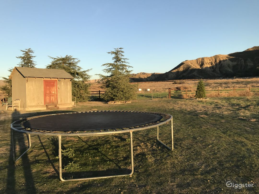 trampoline may be moved around the property to suit your needs