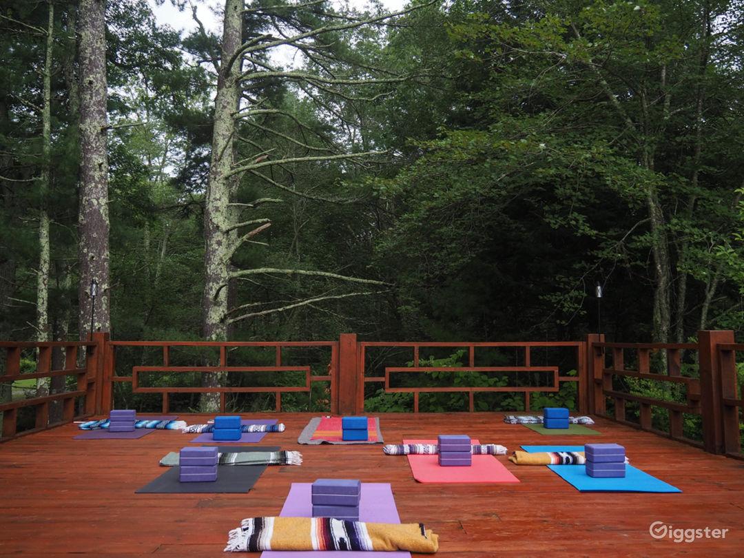 Sunrise Yoga Deck ready for practice