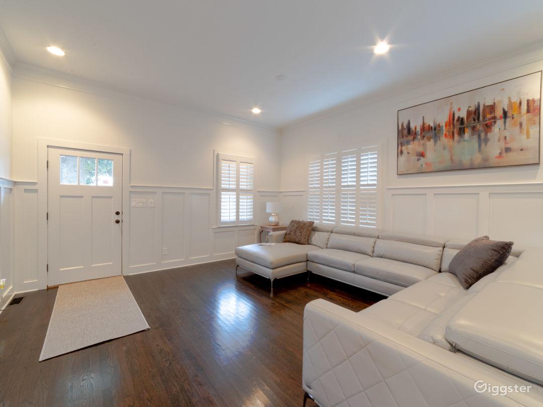 Living room off of Home Office, Front Door