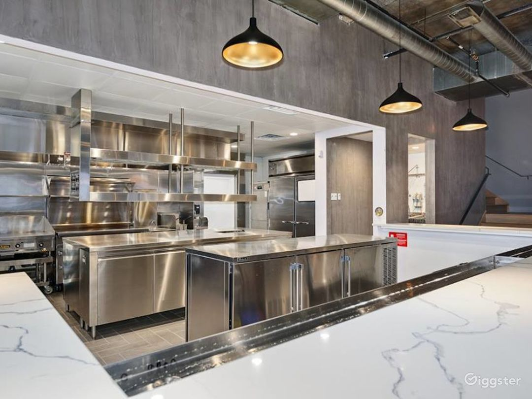 Main Floor State of the Art Commercial Kitchen designed by Monteverde
