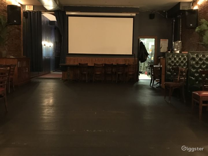 Back room projector.