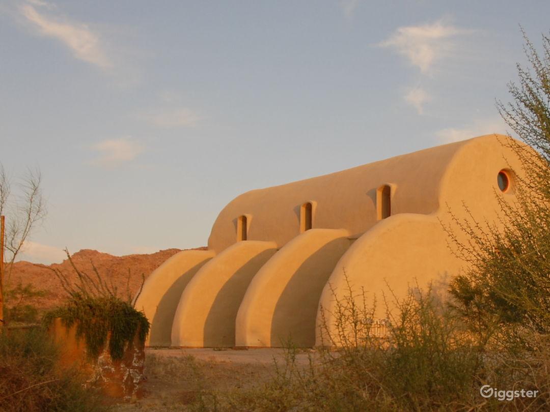 Unique straw bale house