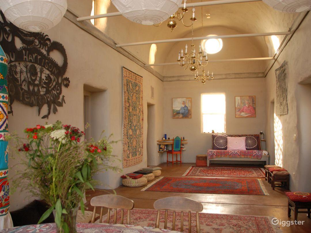 Great room inside Harrison House