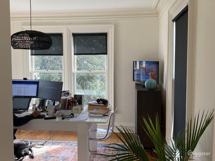Light - filled office off of master bedroom.