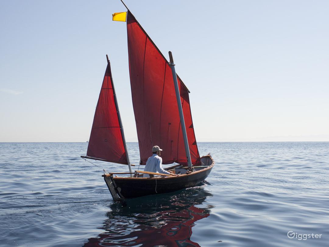 18-foot classic sail boat