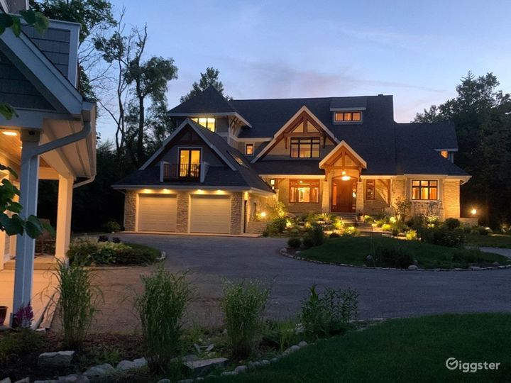 Custom designed exterior lighting and interior lighting to highlight the home design and structure.