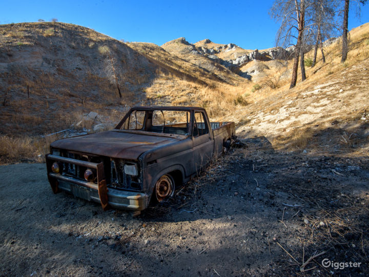 Isolated burned truck area canyon from our Apocalyptic big fire.