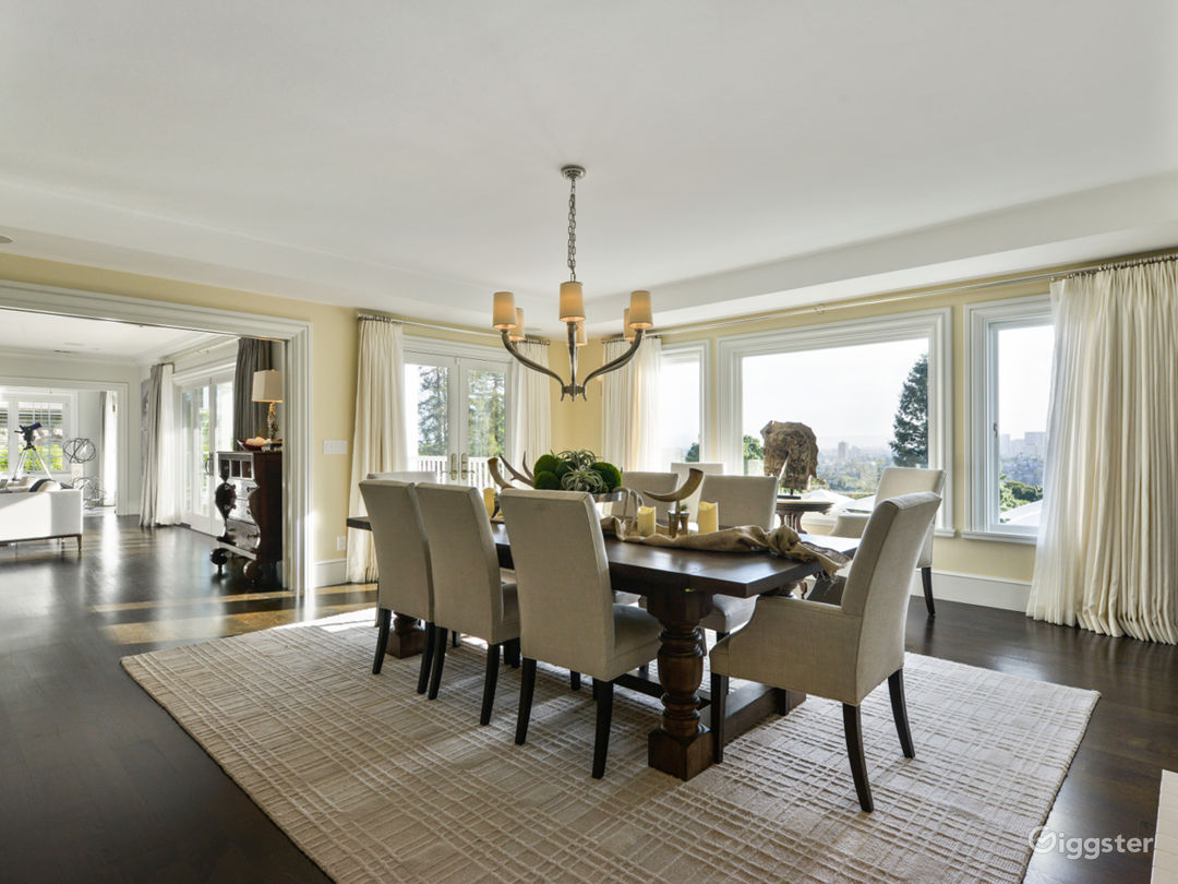 Dinning Room with views of Bay, Oakland and SF