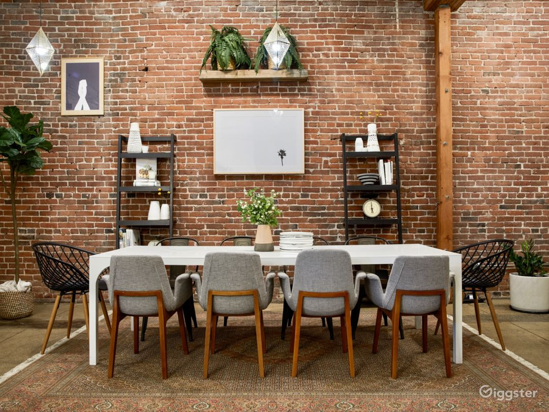 Industrial Chic Downtown Loft Event & Dining Space Photo 4