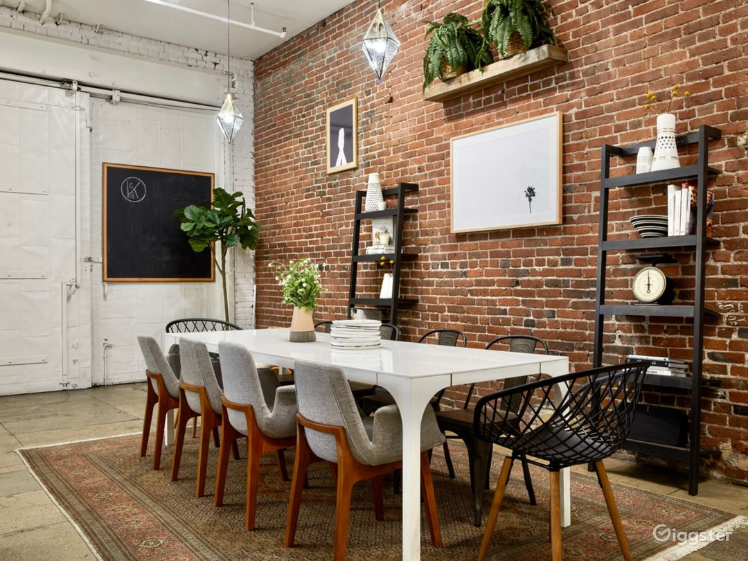Industrial Chic Downtown Loft Event & Dining Space Photo 1