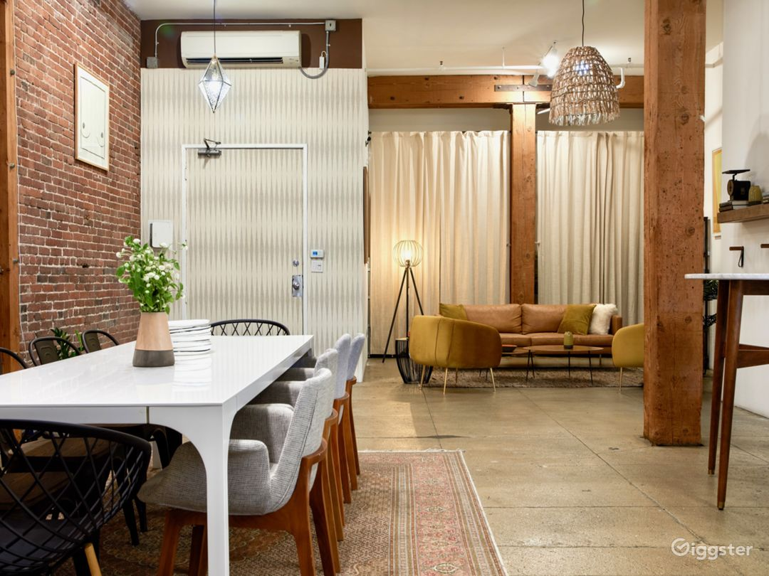 Industrial Chic Downtown Loft Event & Dining Space Photo 2
