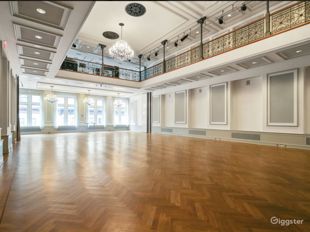 GRAND BALLROOM Capacity 300 people, Fourth Floor  The Grand Ballroom is a true gem for midsize events on the Upper East Side. The Ballroom has been reconstructed to replicate the original design of this space, including a stage.