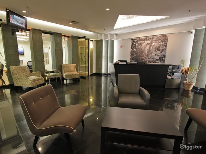 Shared reception area (not available for filming)