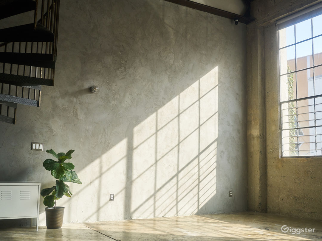 Industrial studio loft flooded with natural light Photo 1